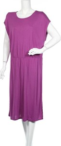 Fioletowa sukienka S.Oliver z okrągłym dekoltem