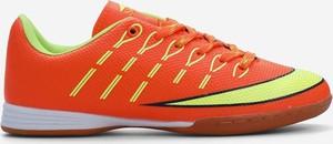 Czerwone buty sportowe Yourshoes z płaską podeszwą sznurowane ze skóry ekologicznej