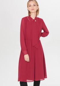 Czerwona sukienka Mohito midi z długim rękawem