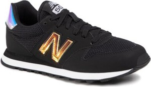 Czarne buty sportowe New Balance sznurowane z płaską podeszwą