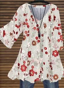 Bluzka Cikelly z długim rękawem z dekoltem w kształcie litery v