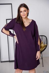 Sukienka tono.sklep.pl z dekoltem w kształcie litery v z długim rękawem