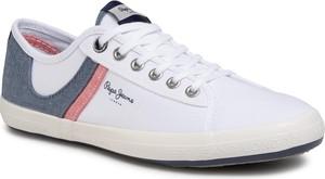 eobuwie.pl Tenisówki PEPE JEANS - Amberman Half PMS30627 White 800