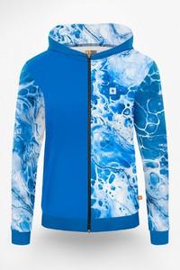 Niebieska bluza Power Canvas z nadrukiem