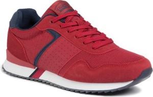 Czerwone buty sportowe Lanetti sznurowane