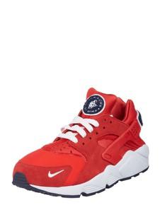 Czerwone buty sportowe Nike w sportowym stylu z weluru huarache