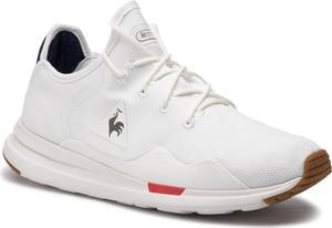 Buty sportowe Le Coq Sportif sznurowane ze skóry ekologicznej w sportowym stylu