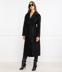 Czarny płaszcz Michael Kors z wełny w stylu casual