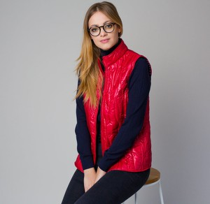 Czerwona kamizelka Willsoor w stylu casual
