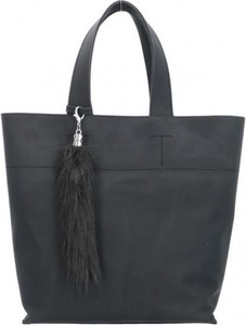 9728aec0139bd Granatowa torebka Chiara Design na ramię z frędzlami