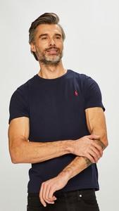 Granatowy t-shirt POLO RALPH LAUREN z krótkim rękawem z bawełny