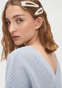 Niebieski sweter Cropp w stylu casual