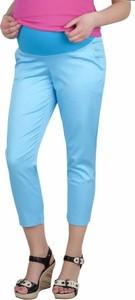 Turkusowe spodnie Inne z bawełny