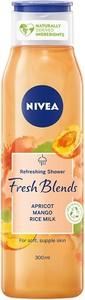 Nivea, Fresh Blends, żel pod prysznic, odświeżający, Morela & Mango & Mleczko Ryżowe, 300 ml