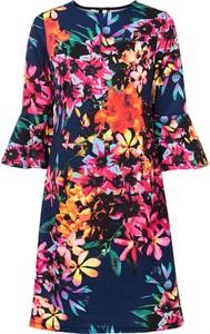 Sukienka bonprix z długim rękawem z okrągłym dekoltem