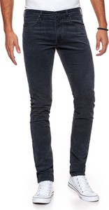 Granatowe spodnie Lee ze sztruksu