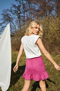 Różowa spódnica ORSAY z tkaniny w stylu casual mini