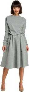 Sukienka Be z bawełny z długim rękawem