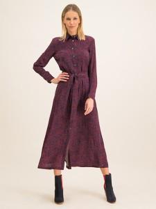 Fioletowa sukienka Tommy Hilfiger z długim rękawem