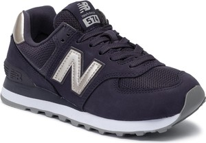 Granatowe buty sportowe New Balance z płaską podeszwą