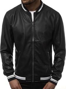 Czarna kurtka producent niezdefiniowany w stylu casual