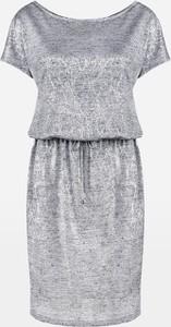 Sukienka Molton mini z płótna z krótkim rękawem