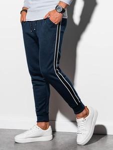 Granatowe spodnie sportowe Ombre w sportowym stylu