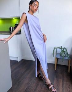 Fioletowa sukienka Weekday z dżerseju