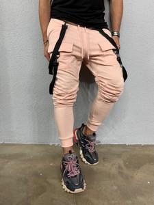 Różowe spodnie skladmaterialu