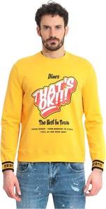 Żółty sweter Guess z bawełny w młodzieżowym stylu