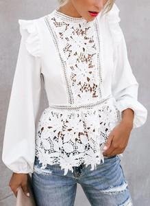 Bluzka Arilook w stylu boho z okrągłym dekoltem