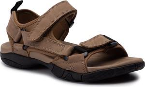 Brązowe buty letnie męskie Gino Rossi z nubuku