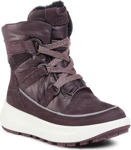 Brązowe buty dziecięce zimowe eobuwie.pl sznurowane