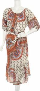 Sukienka Derhy z okrągłym dekoltem w stylu casual z długim rękawem