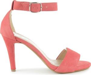 Czerwone sandały Saway z klamrami z zamszu