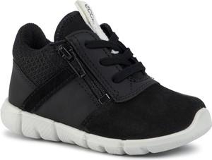 Czarne buty sportowe dziecięce Ecco sznurowane