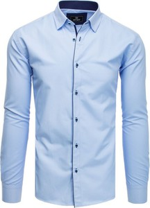 Niebieska koszula Dstreet z klasycznym kołnierzykiem z bawełny