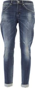 Niebieskie jeansy Dondup z bawełny w stylu casual
