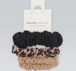 House - Ozdobne gumki do włosów 5-pak - Wielobarwny