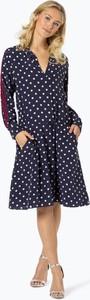 Sukienka BOSS Casual z jedwabiu midi z długim rękawem