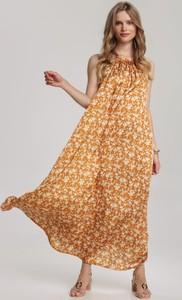 Żółta sukienka Renee bez rękawów w stylu casual