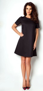 Czarna sukienka Ivon mini z dekoltem w łódkę