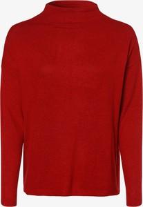 Czerwony t-shirt S.Oliver z długim rękawem z golfem