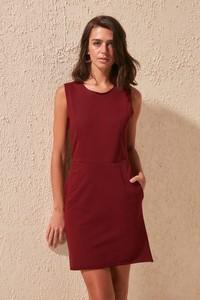 Czerwona sukienka Trendyol mini bez rękawów