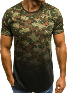 Zielony t-shirt ozonee.pl z bawełny w młodzieżowym stylu