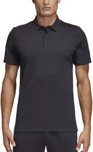Koszulka polo Adidas w sportowym stylu z krótkim rękawem