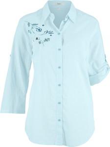 Miętowa koszula bonprix bpc bonprix collection