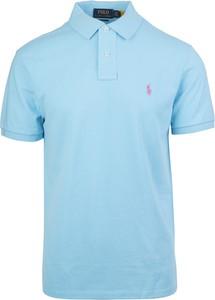 Niebieska koszulka polo Ralph Lauren w stylu casual z krótkim rękawem