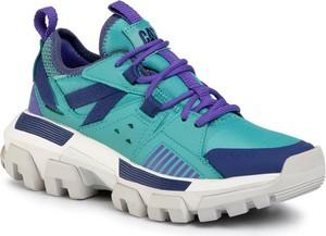 Niebieskie buty sportowe Caterpillar w sportowym stylu sznurowane