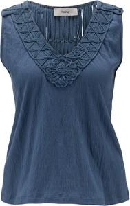 Niebieska bluzka Heine bez rękawów
